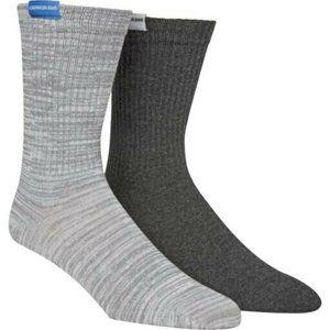 Calvin Klein Jeans Mens 2-Pack Gray Crew Socks One